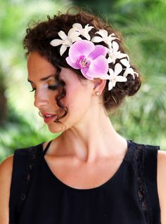 Fresh Orchid Hair Pieces 107