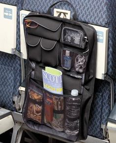 airline seat organizer. All my things in one place easy to reach!