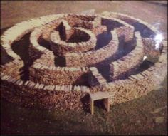 An amazing wood maze.