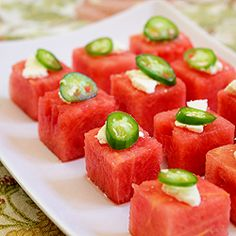 Watermelon Salad Bites