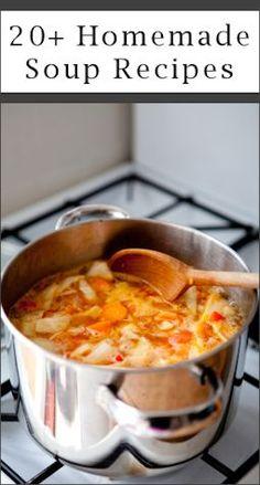 20 homemade soup recipes.