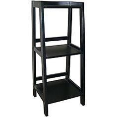 Three Shelf Corner Bookcase-Overstock- $56