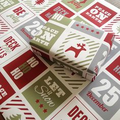 'ho ho ho' christmas eco wrapping paper by jg artwork | notonthehighstreet.com