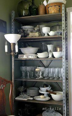 industrial Shelf as shabby chic bookshelf