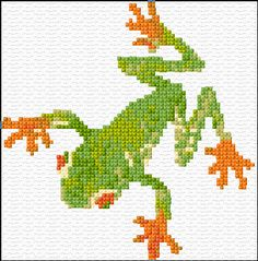 frog free cross stitch