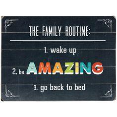 Family Routine Wall Art!