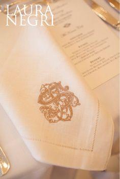 Custom monogrammed dinner napkins