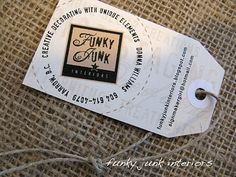 Business cards as a tag. How fun...