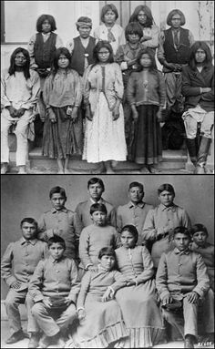A group of Chiricahua Apache students at Carlisle Indian school. This is history you won't learn unless you look for it.