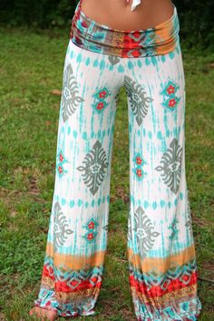 cloth, fashion styles, summer style, around the house, palazzo pant, yoga pants, boho style, print, crazy pants