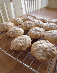 Banana oatmeal cookies! I substituted peanut butter for oil and added cinnamon, nutmeg, cloves and chocolate chips. *drool*