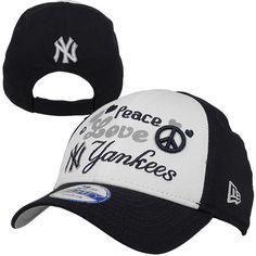 New Era New York Yankees Toddler Peace-Love-Team Adjustable Hat - Navy Blue