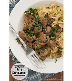 Slow Cooker Beef Stroganoff | www.tasteandtellblog.com