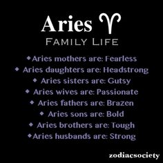 Aries : Gutsy & Head
