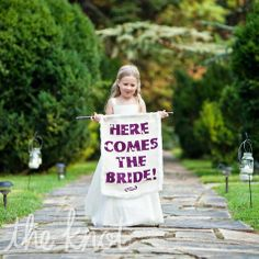Playful alternative to flower girl. Photo by David Abel Photography.