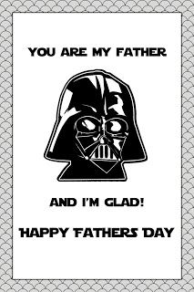 Vadar printable Father's Day card. Funny!