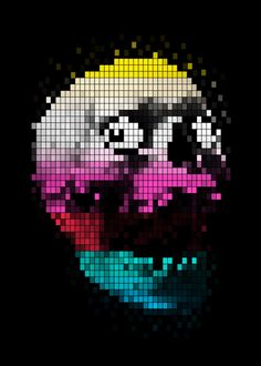 PIXEL SKULLY Art Print