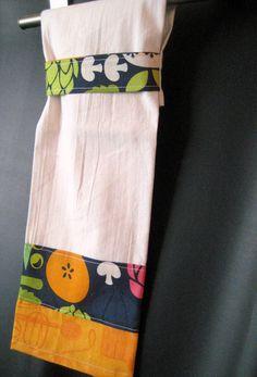 Hanging Towel Retro Veggies by MissyMadeWell on Etsy, $8.00