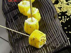 Ricetta Sushi d'ananas, gel di limone e timo
