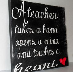 Teacher Gift..Solid Wood Sign.. Christmas by gracierayscrafts