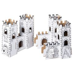 dragons, rock cardboard, castles, craft idea, cardboard castl