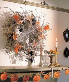 halloween decorations, vintage decorations diy, diy crafts, halloween crafts, fall wreaths