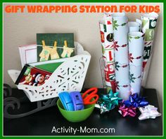Gift Wrapping with Kids