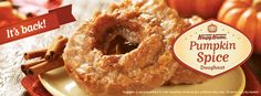Pumpkin Spice Doughnuts are back in the #US and #CAN starting September 2.