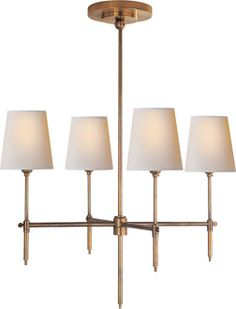 bryant small chandelier antique brass