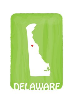 DELAWARE STATE MAP Lime - www.facebook.com/... - Personalized Custom Watercolor Effect Home is where the heart is - Home sweet Home - Wall Decor - Home decor - Wall Art - Graphic - Art Print - Illustration - United States - KIds art - Children Art Personalized Custom Colorful  $15.00