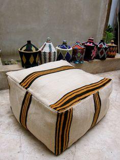 Handmade kilim pouf / ottoman / foot stool  by BazaarLiving, £60.00