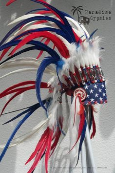 stars stripes feather
