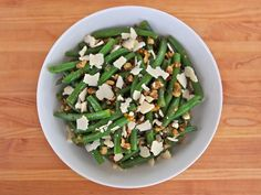 mints, vegetarian food, shiksa blog, side, green beans, parmesan, bean salads, walnuts