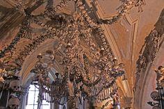 sedlec ossuary by Paul Young #sedlec #ossuary #kutna #hora #skulls #bones #chandelier #czech #macabre