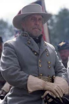 Robert Duvall as General Robert E Lee in Gods and Generals. The greatest actor ever.