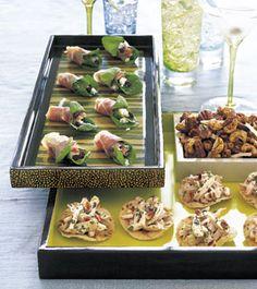 Prosciutto-Wrapped Gorgonzola with Arugula Recipe  | Epicurious.com