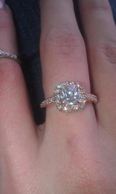 """Someone in our swap group got a real ring not too long ago from her Cupcake Diamond Candles It is 18k rose gold, with champagne and clear diamonds....valued at almost $1000!!! I hope I get one like this!! Nice selection of rings DC!!!""-Crystal Hagler"