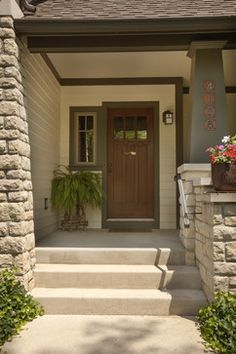 Exterior Entrance To Townhouse Design Ideas, Pictures, Remodel and Decor