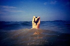 skinny dipping! film, beaches, bucket list, skinny dipping, the ocean, art, sea, print, blues