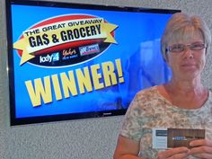 Helen Kegley won $100 in The Great Gas & Grocery Giveaway from KXLY4, Divine's & Yokes.