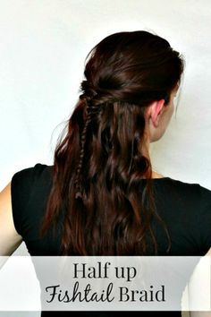 Easy half up fishtail tutorial with video!