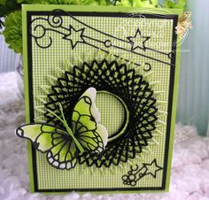 by Bibiana: Spirelli card made with the loom circle die from memory box.