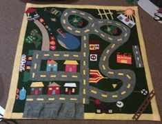 DIY Road Rugs and Play Mats, every material imaginable
