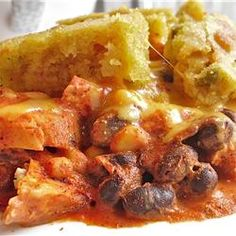 Chicken Enchilada Casserole on http://onlygreatrecipes.com