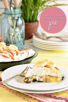 Salted Caramel Banana Cream Pie with Oreo Crust