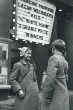"""Heidi"" movie, New York , 1953"