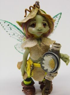 Ooak Handmade Polymer Clay Woodland Fairy by Woodlandkreatures, $44.00