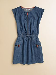 DKNY - Girl's Chambray Dress - Saks.com