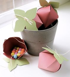 Cute paper gift containers