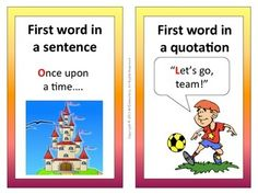 Capitalization Rules Bulletin Board - This is a set of 20 capitalization rules cards with words and pictures to post in your classroom on a grammar, writing, or ELD bulletin board. I've found that having the pictures along with the words on these cards is especially helpful for my ELL students.